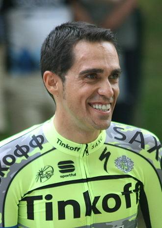 2015 Tour de France - Image: 2015 Tour de France team presentation, Alberto Contador (cropped)