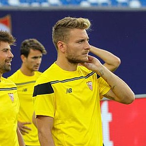 Ciro Immobile - Immobile with Sevilla in August 2015, prior to the UEFA Super Cup