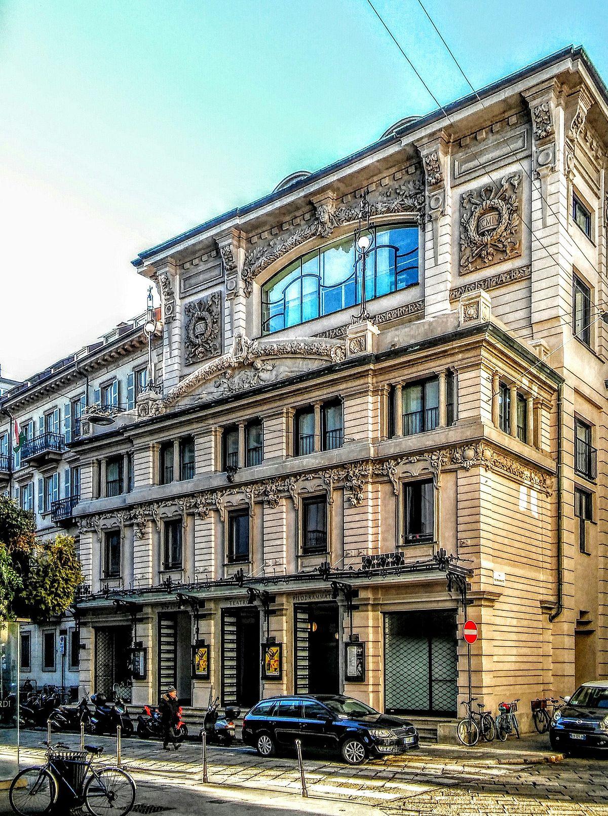 Teatro dei filodrammatici milano wikipedia for Accademia di milano