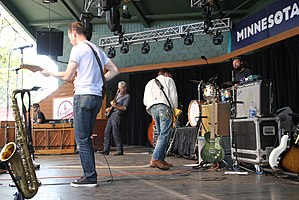 JD McPherson - The band at the Minnesota State Fair