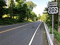 2018-05-29 18 01 15 View north along U.S. Route 202 (Mine Brook Road) at Whitenack Road in Bernardsville, Somerset County, New Jersey.jpg
