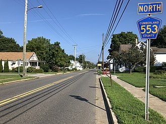 Downe Township, New Jersey - CR 553 in Downe Township