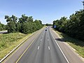 2019-06-24 10 43 16 View north along the northbound lanes of Interstate 95 and U.S. Route 17 from the overpass for Virginia State Route 620 (Harrison Road) in Fourmile Fork, Spotsylvania County, Virginia.jpg
