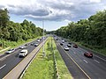 2019-07-24 17 06 03 View east along Interstate 695 (Baltimore Beltway) from the overpass for Putty Hill Avenue in Overlea, Baltimore County, Maryland.jpg