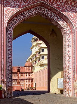 20191218 Gate, City Palace, Jaipur, 1012 9069