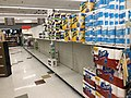 2020-03-19 06 01 28 Partly bare shelves due to panic buying in the Giant at the Franklin Farm Village Shopping Center in the Franklin Farm section of Oak Hill, Fairfax County, Virginia during the COVID-19 corona virus pandemic.jpg