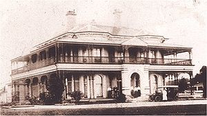 """Ascot, Queensland - """"Nyrambla"""" 21 Henry Street, Ascot, from Yabba Street, in its early days"""