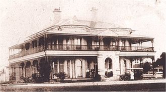 "Ascot, Queensland - ""Nyrambla"" 21 Henry Street, Ascot, from Yabba Street, in its early days"