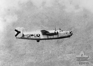 No. 24 Squadron RAAF - A No. 24 Squadron B-24J during a combat mission
