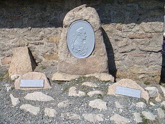 Harzreise im Winter - Commemorative plaque for Goethe on the Brocken