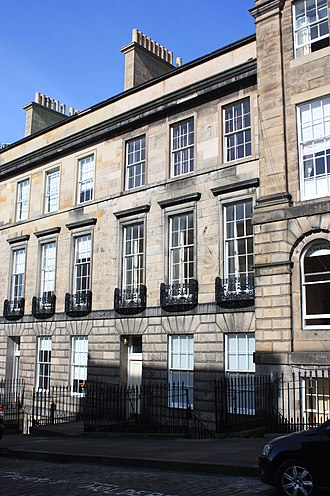 Thomas Chalmers - Chalmers' townhouse on the Moray Estate, 3 Forres Street, Edinburgh