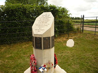 High Peak Rifles - 46th (North Midland) Division's memorial at Cité de Madagascar, site of the Hohenzollern Redoubt.