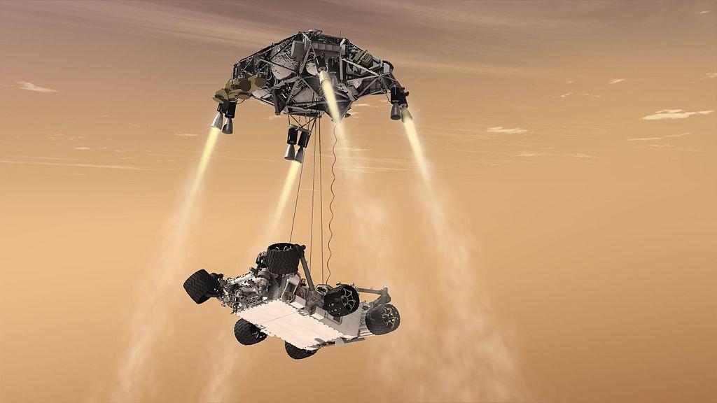 full Curiosity's Sky Crane Maneuver, Artist's Concept