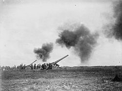 6 inch Mk VII guns firing behind Canadian lines April 1917 LAC 3195150.jpg