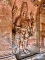 6th century Harihara (left half Shiva, right half Vishnu) in Cave 3, Badami Hindu cave temple Karnataka 1.jpg