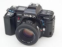 minolta maxxum 7000 wikipedia rh en wikipedia org Minolta AF 7000 Minolta Auto Focus Camera
