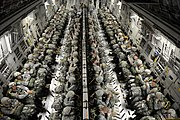 82nd Airborne paratroopers in a C-17