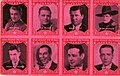 8 stamp images of Motion Picture actors, Fred Gilman, Pete Morrison, George Bancroft, Walter... (NBY 10055).jpg