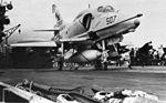 A-4E of VA-195 on USS Oriskany (CVA-34) 1969.jpg