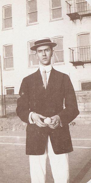 Arthur Kingsley Porter - A. K. Porter aged about 25 years, taken in 1908 by A.S. Rueff. Brooklyn Museum Archives