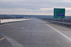 Highways in Romania - Image: A1 Arad Timisoara 01