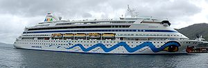 The cruise ship AIDA Aura in Bergen in 2009.