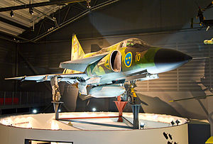 Saab 37 Viggen - AJS 37 Viggen on display at the Swedish Air Force Museum, Linköping