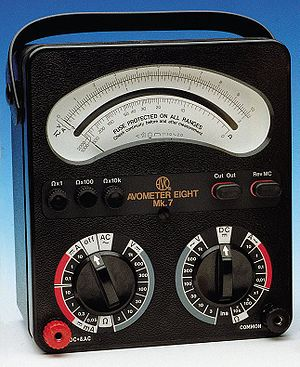 Avometer - Final version of AVOmeter model 8 produced from 1951 to 2008 (Mk7 pictured)
