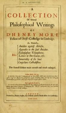 A Collection of Several Philosophical Writings of Dr. Henry More.djvu