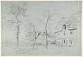 A Farmhouse with a Thatched Roof and Trees Beside a River MET DP812257.jpg