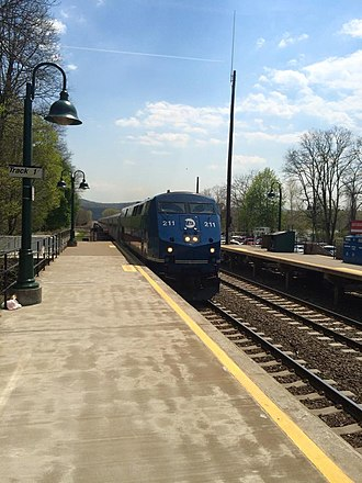 Cold Spring, New York - A MetroNorth train arriving at Cold Spring train station