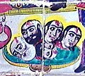 A Scene of Yazid Palace, the Heads of Karbala's Martyrs, glazed tiles in the Imamzadeh Aga Seied Hossein and Aga Seied Ebrahim Fashkali Mahale, Langerud, Iran.jpg
