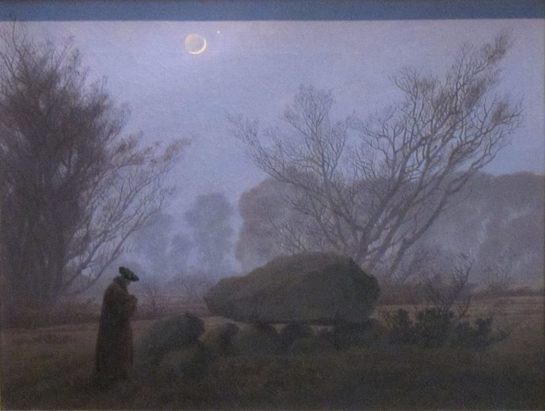 file a walk at dusk by caspar david friedrich getty center jpg wikimedia commons. Black Bedroom Furniture Sets. Home Design Ideas