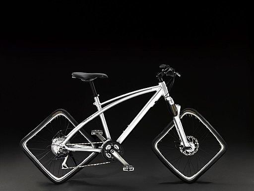A bike with square wheels