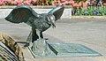 A bronze statue of a raven, Victoria Centennial Fountain, Victoria, British Columbia, Canada 04.jpg