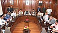 A delegation of six community leaders from Assam led by the Minister of State for Youth Affairs and Sports (Independent Charge), Shri Sarbananda Sonowal calling on the Union Home Minister, Shri Rajnath Singh, in New Delhi.jpg