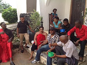 Nollywood - Image: A film set in Nollywood Awka