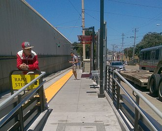 Balboa Park station - Muni's inbound stop