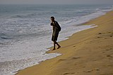 A photographer at University Beach, Pondicherry.jpg