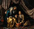 A physician and a surgeon attending to a woman patient. Oil Wellcome V0017270.jpg