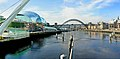 A view from Millennium bridge over the river Tyne at Newcastle-upon-Tyne.jpg
