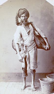 "A water carrier or ""bhisti"" in India,.jpg"