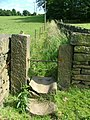 A well worn stile on the path up to Back Lane - geograph.org.uk - 190917.jpg