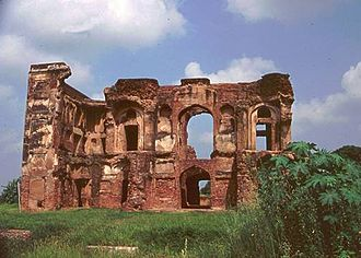 Sirhind-Fategarh - Ruins of Daulat Khana-E-Khas at Aam Khas Bagh', built by most probably, Sultan hafiz Rakhna, during the reign of emperor Akbar