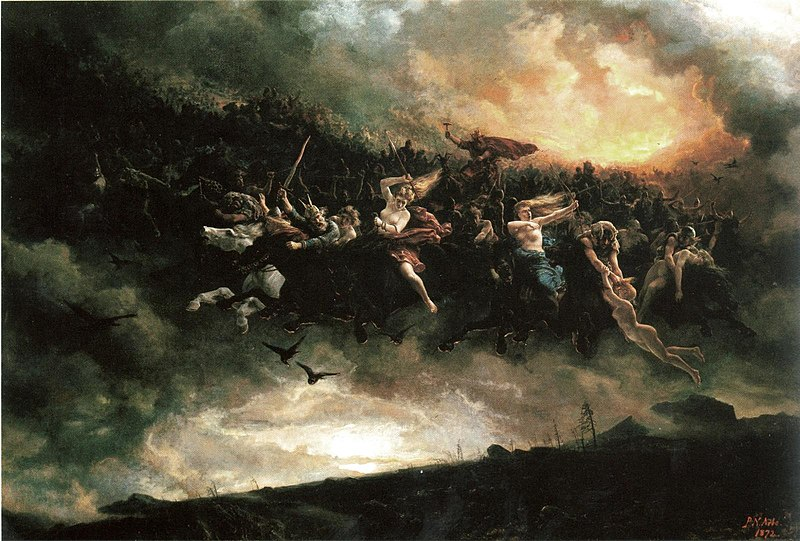 """The Wild Hunt: Åsgårdsreien"" by Peter Nicolai Arbo"