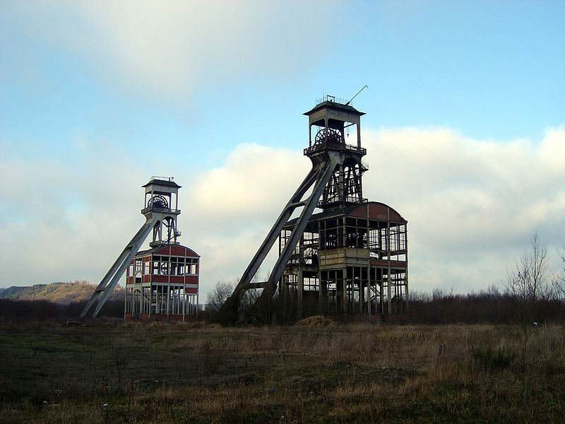 Abandoned mine shafts in Maasmechelen, Belgium