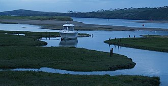 St Dogmaels - The Teifi estuary at St Dogmaels, with Gwbert in the background