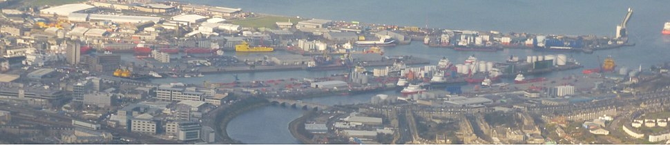 Aberdeen Harbour from Air