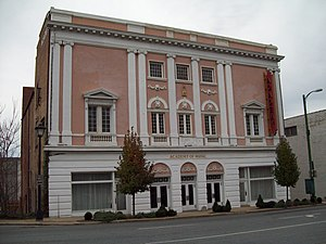 National Register of Historic Places listings in Lynchburg, Virginia - Image: Academy of Music Lynchburg Nov 08 1