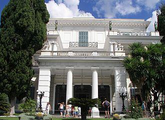 Achilleion (Corfu) - Achilleion Palace portico and main entrance